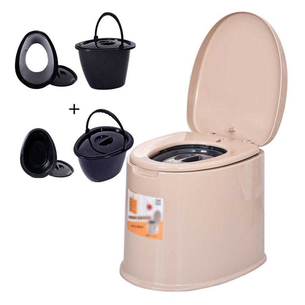 ポータブルトイレプラスチック製トイレモバイルトイレは、屋内と屋外のLooに適してキャンプキャビンのピクニック釣りや祭りを使用する (色 : ブラウン ぶらうん) B07CXWFQWK  ブラウン ぶらうん
