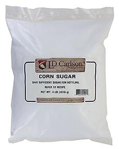 Corn Sugar (Dextrose) priming sugar for beer brewing 4 Pounds