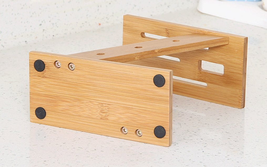 Weikai Bamboo Knife Blocks, Bamboo Kitchen Knife Block Stand Holder for Home, Hotel (without knives)