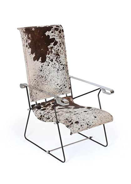 Cowhide Sling Lounge Chair | Natural Western Lodge Ranch