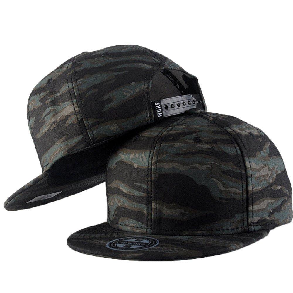 PLENTOP 2019 Men Women Baseball Camouflage Cap Snapback Hat Hip-Hop Adjustable D