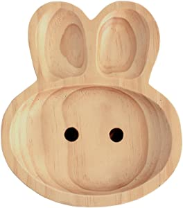 Time Concept Kids Petits Et Maman Wooden Rabbit Plate - Eco-Friendly, Handcrafted Dinnerware