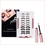 tuokiy 10 Pairs Reusable Magnetic Eyelashes, Magnetic Eyeliner And Lashes, Magnetic Eyelash, Magnetic False Lashes with…