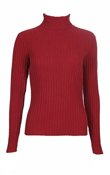 Sutton Studio Cashmere Large Ribbed Turtleneck Sweater Misses ...