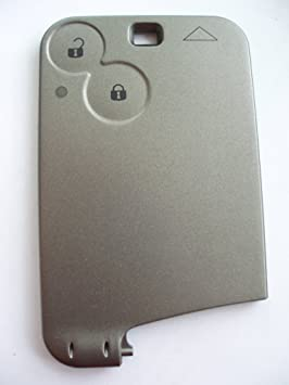 Repuesto de 2 Botones para Tarjeta de Llave fobcase para Renault Laguna Espace Vel Satis Tarjeta remota