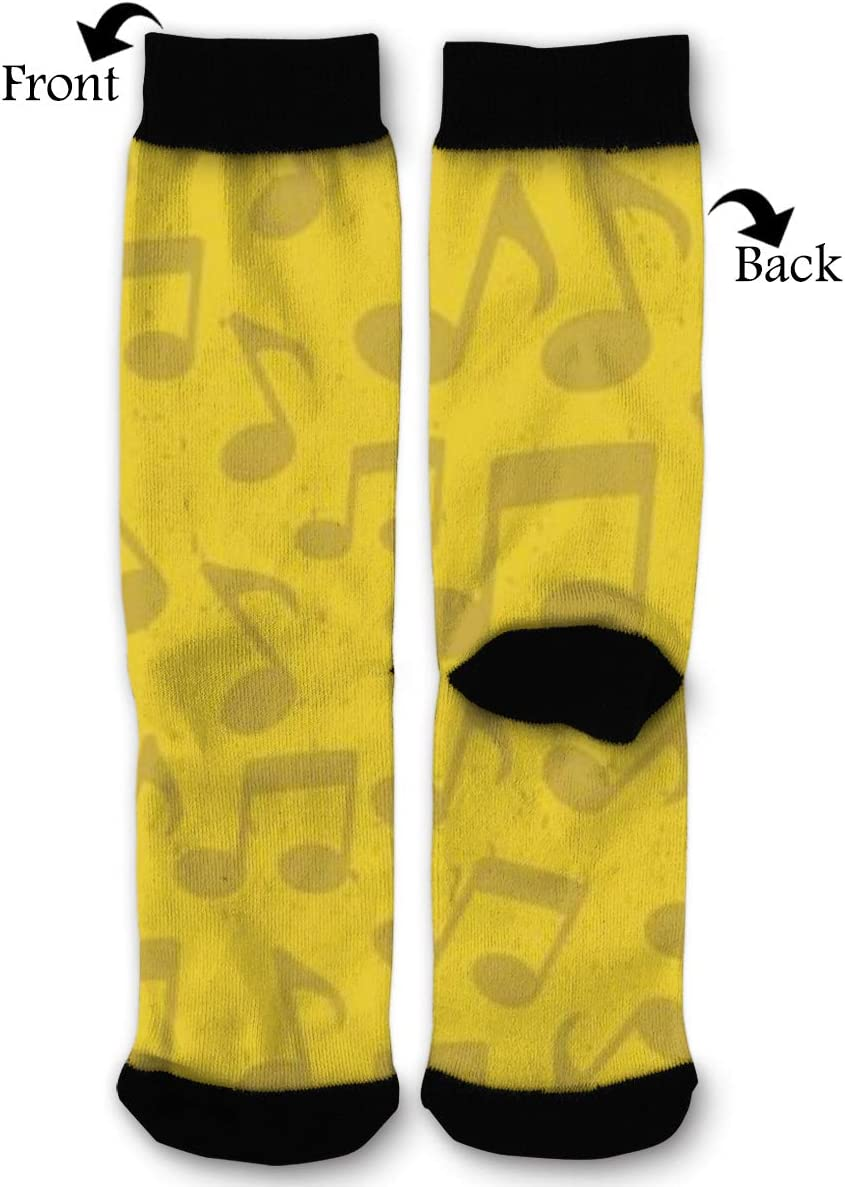 BLongTai Knee High Compression Socks Blue Circle for Women and Men Sport Crew Tube Socks