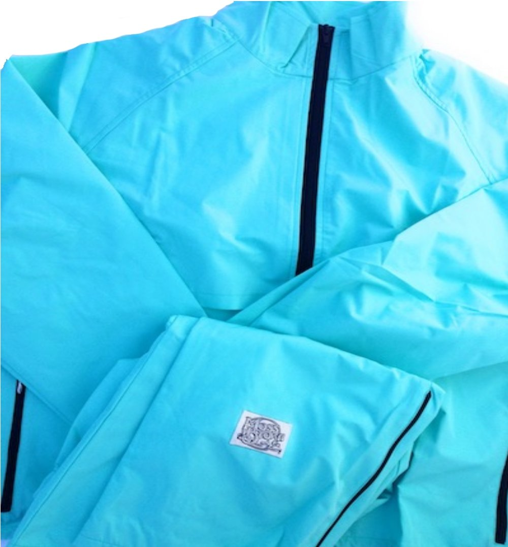 Moss Brown & Co. Bright Colors, 2-Layer Moss-TEX Waterproof, Breathable, Big & Tall Track Suits. Jamaica Blue - 4X by Moss Brown & Co.