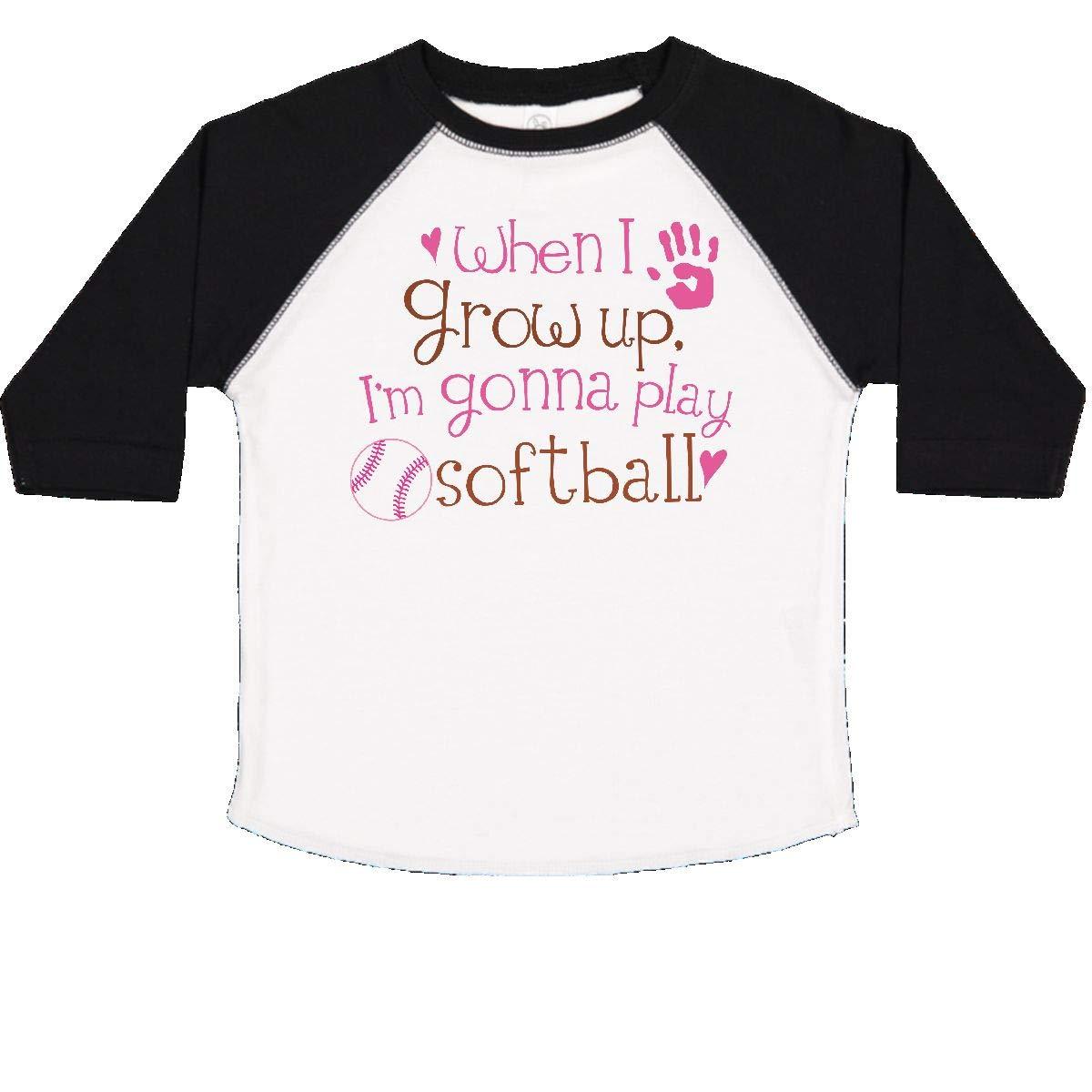 inktastic Future Softball Player Girls Toddler T-Shirt