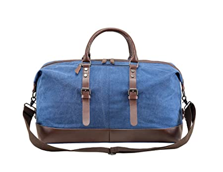 Buy Right Away Oversized Leather Canvas Travel Bag For 2 7 Days Of Short Trips Boarding Packages Weekend Night Bags New Promotional Prices At Amazon In