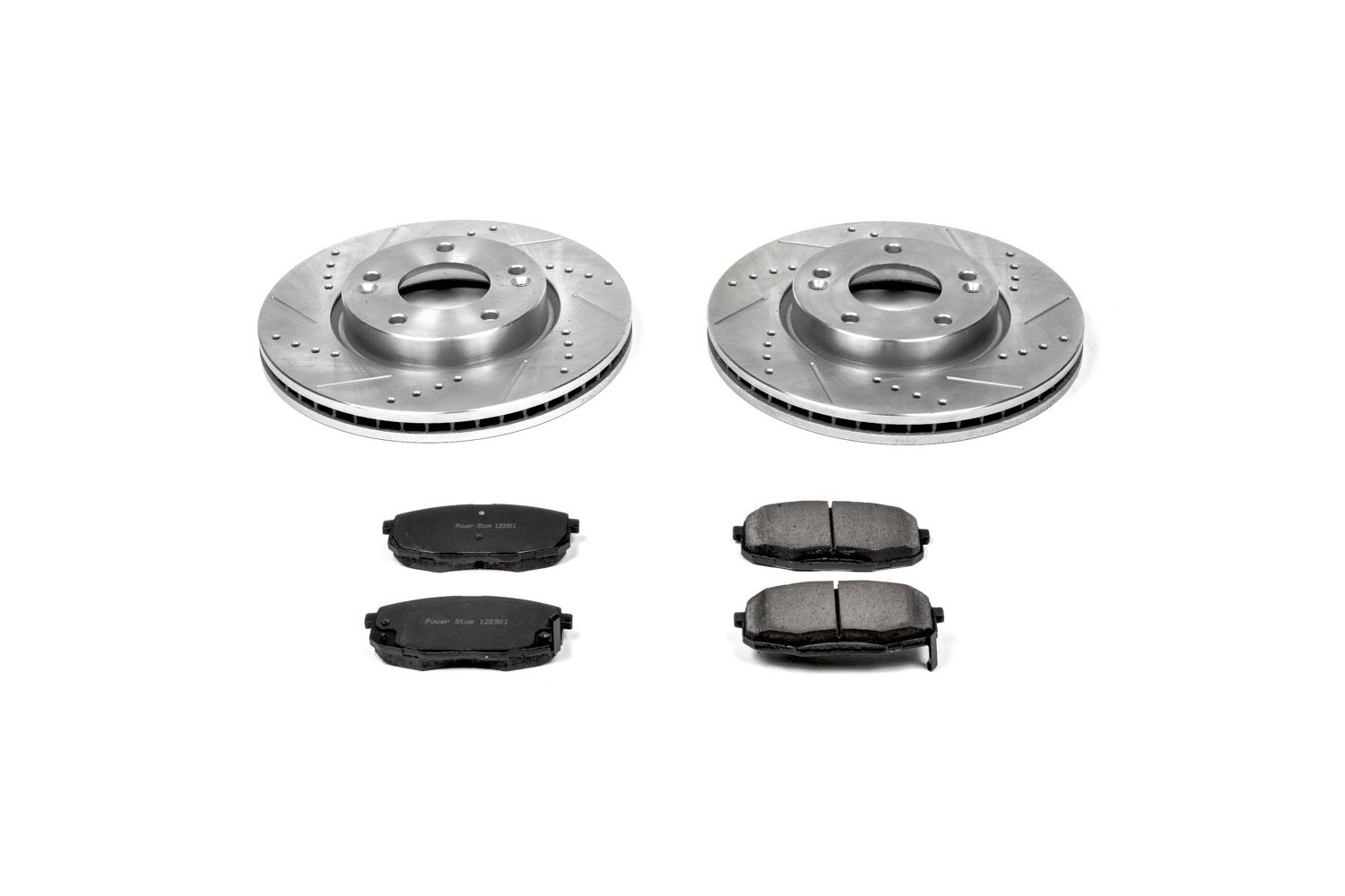 Power Stop K5366 Front Z23 Evolution Brake Kit with Drilled/Slotted Rotors and Ceramic Brake Pads