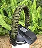 us army sewing kit - Handle for Hydro Flask - Paracord Survival Strap with Security Ring for Wide Mouth Water Bottles Carrier (Army green)