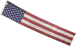 "product image for Gettysburg Flag Works 20"" x10'Premium Embroidered 50 Star Patriotic Pulldown, Oudoor All-Weather Nylon, Fifty Embroidered Stars and 5 Sewn Stripes, Decorative Bunting, Made in USA"