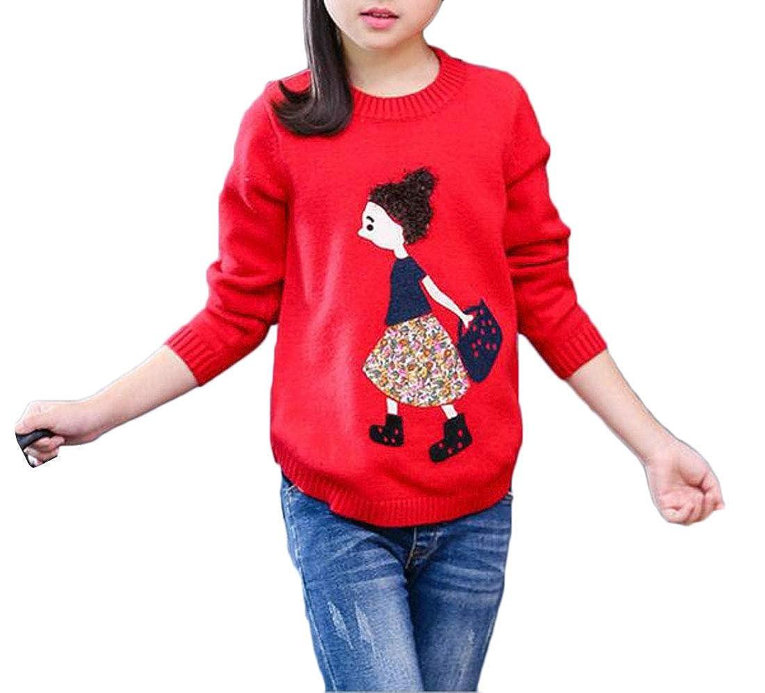 Adriat Girl Jumper Cute Knit Cartoon Classical Pullover Sweaters