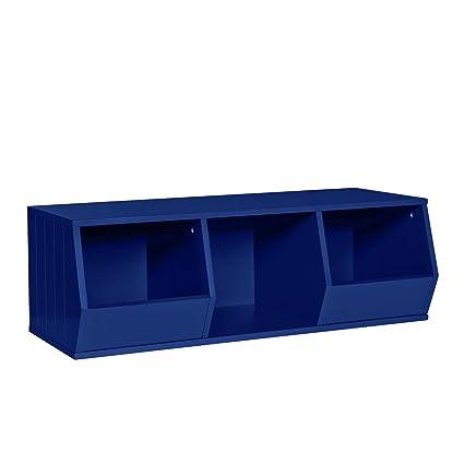 RiverRidge Kids Storage Stacker 2 Veggie Bins 1 Cubby, Navy