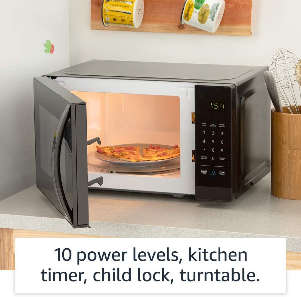 AmazonBasics high heat Microwave that works with Alexa