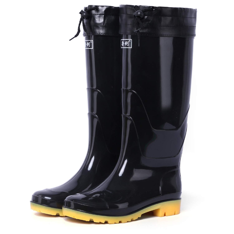 H-Mastery Gummistiefel Herren Gefü ttert Futter Warm Winter Halbhoch Hoch Regenstiefel Arbeitsstiefel Wasserdicht Outdoor