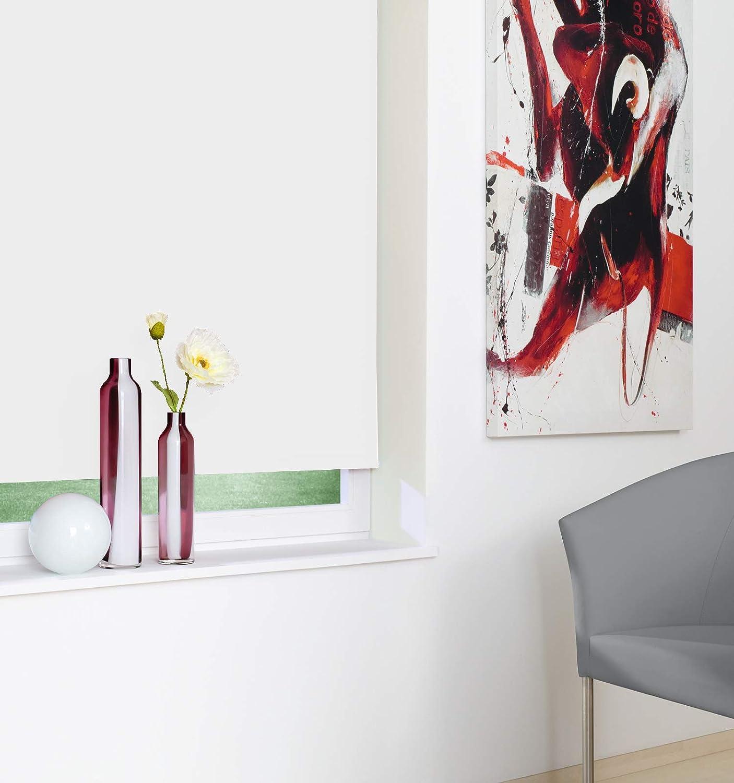 Seitenzugrollo Kettenzugrollo Fenster Rollo 8 Farben Farben Farben Breite 62 bis 242 cm Höhe 160 cm Vorhang blickdicht halbtransparent lichtdurchlässig Sonnenschutz Blendschutz (Größe 242 x 160 cm Farbe Weiß) B0793C796R Seitenzug- & Springrol 726135