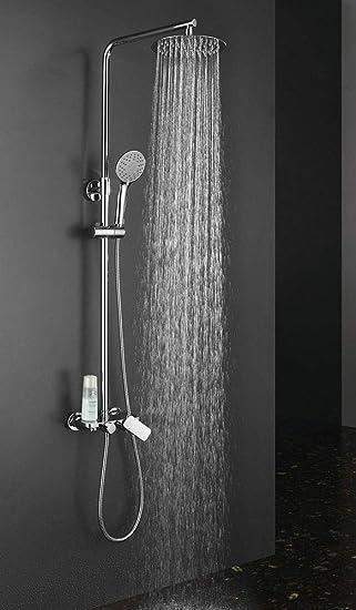Columna de ducha monomando cuadrada modelo DUA con repisa ...