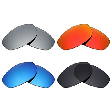 ab54dea877 Image Unavailable. Image not available for. Color  Mryok 4 Pair Polarized Replacement  Lenses for Oakley Tightrope Sunglass - Stealth Black Fire Red