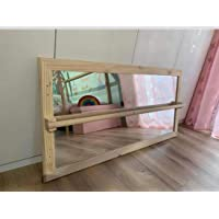 Espejo Montessori madera natural 100x60cm