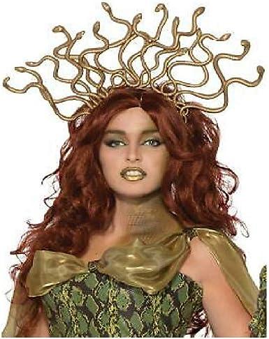 Gold Medusa Snake Headpiece Headband Costume Accessory