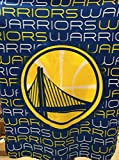 Golden State Warriors NBA Licensed Classic ''Comfy'' Fleece Throw Blanket 50x60''