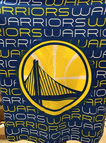 Golden State Warriors NBA Licensed Classic ''Comfy'' Fleece Throw Blanket 50x60'' by NBA