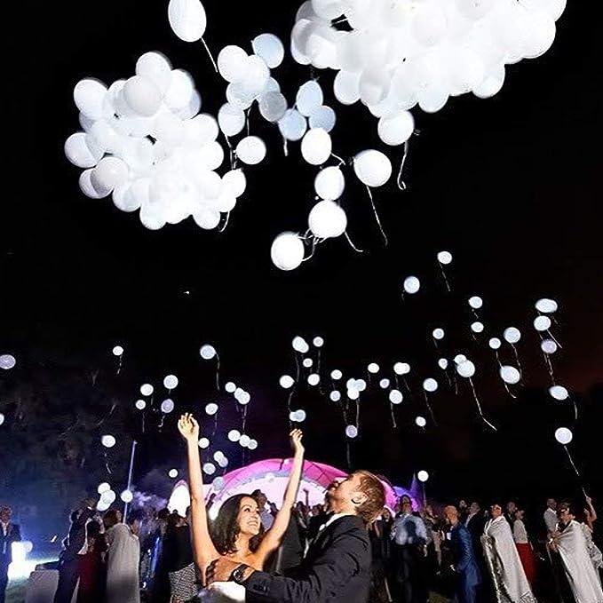 Luz blanca y brillante Led Fiesta Globos Latex Helio Cumpleaños Boda Color