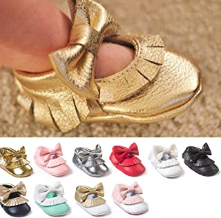 Brown 13cm Alamana Fashion Bowknot Warm Newborn Baby Infant Soft Anti-Slip Prewalker Toddler Shoes