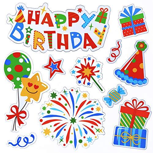 Birthday Magnets Set, Happy birthday decorations, -
