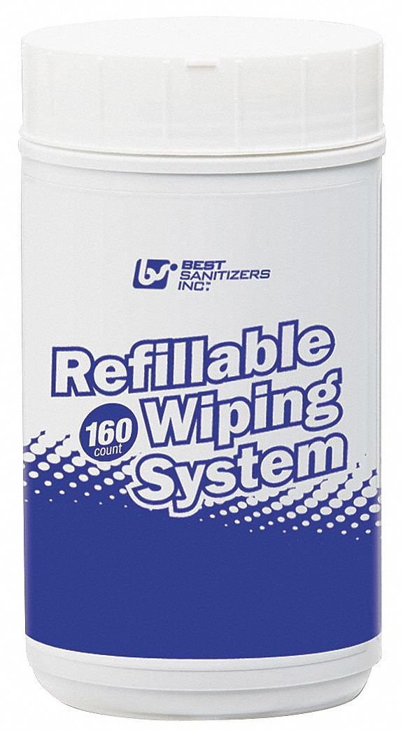 "Disinfecting Cleaning Wipes, 160 ct. Canister, Fragrance: Unscented, Size: 7-13/64"" x 9-1/2'' by Best Sanitizers Inc (Image #1)"