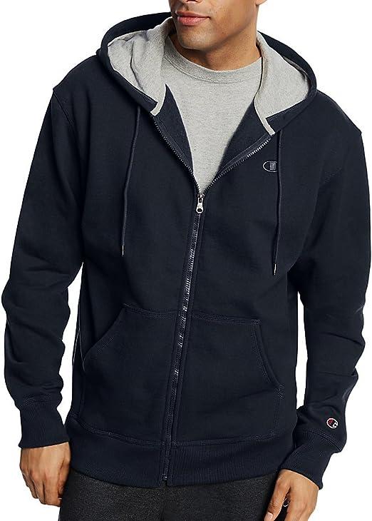 Champion Mens Full-zip Eco Fleece Hoodie Jacket