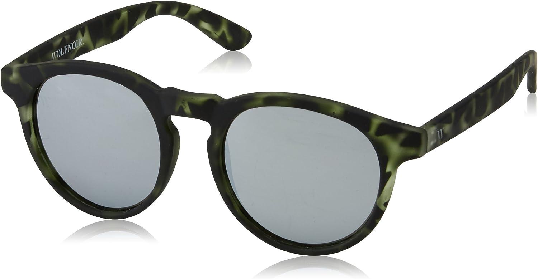 Wolfnoir HATHI Silver Green Gafas de sol, 45 Unisex