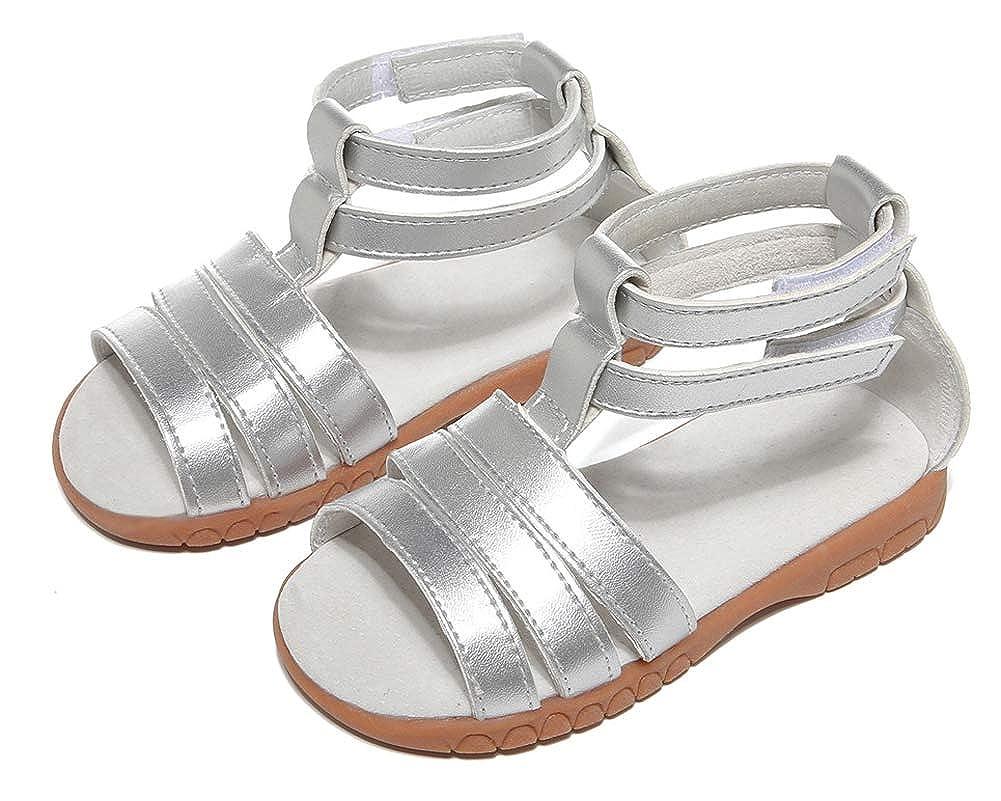 Toddler Girls Ankle Strap Open Toe Soft Sole Sandal Flats