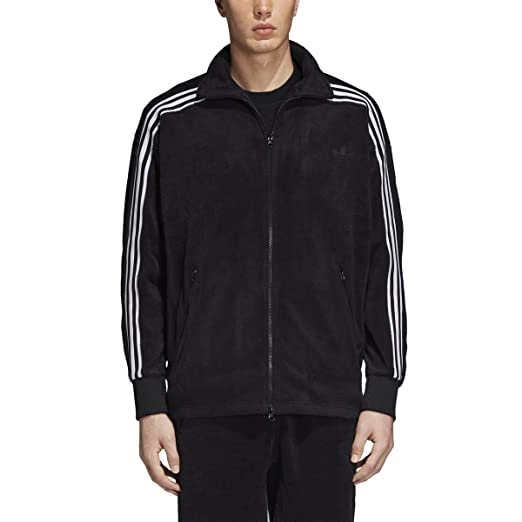 new product f08fd 76d8b adidas Mens Beckenbauer Velour Track Jacket CY3541,Black,Large