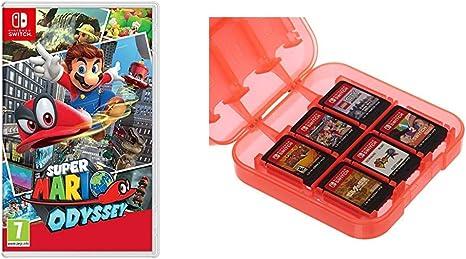Super Mario Odyssey & AmazonBasics - Funda para almacenamiento de ...