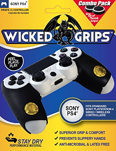 Price comparison product image Wicked-Grips High Performance Controller Grips for PlayStation 4 - Thumb Grips Combo)