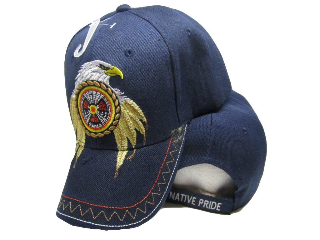 Amazon.com   K s Novelties Native Pride Eagle Feathers Dreamcatcher Blue Indian  Embroidered Cap Hat Adjustable   Garden   Outdoor ea9ef795a458