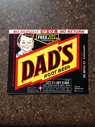 Vintage Original Dad's Root Beer Label