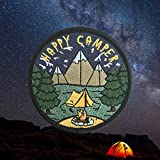 O'Houlihans - Happy Camper Patch - Adventure Travel Hiking Camping Patch - Iron on Patch