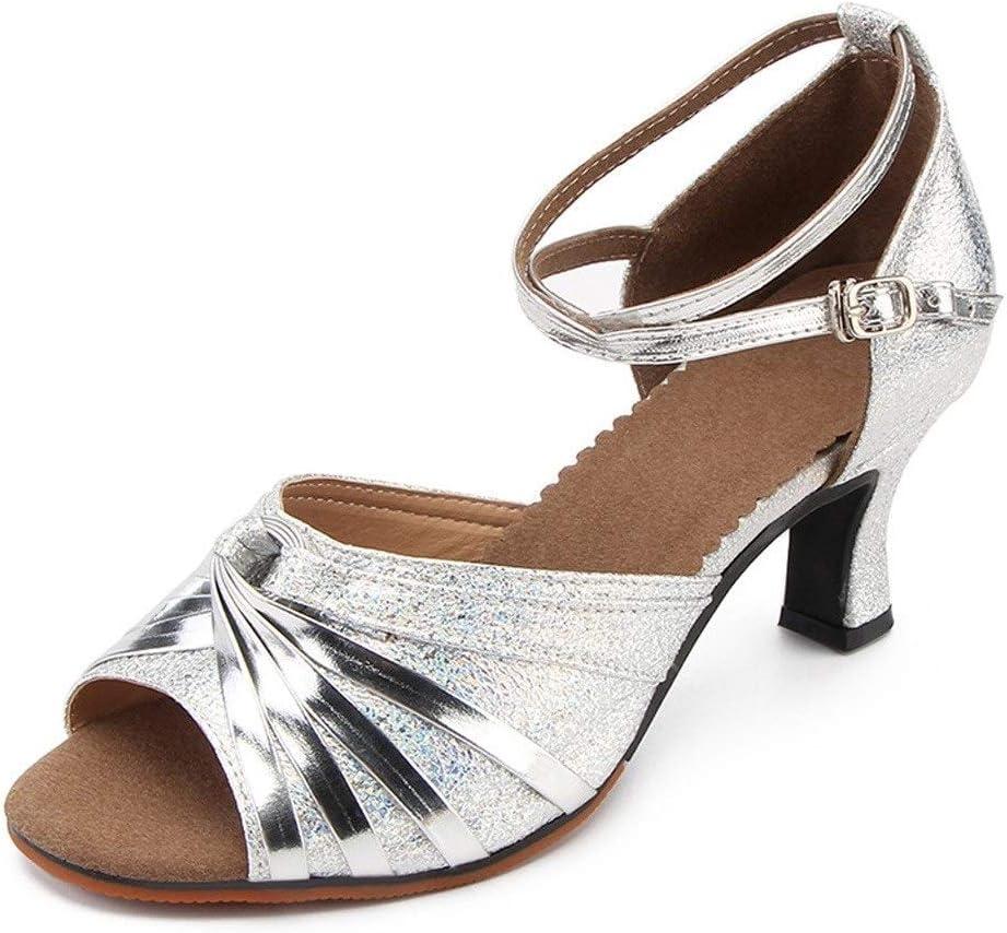 Wmk Zapatos Adultos de la Danza de Las Mujeres de Baja y Media de Baile Latino Zapatos de sal/ón de Baile Zapatos de Baile de Danza Moderna Inferior Suave Zapatos de Baile Profesional del Profesor