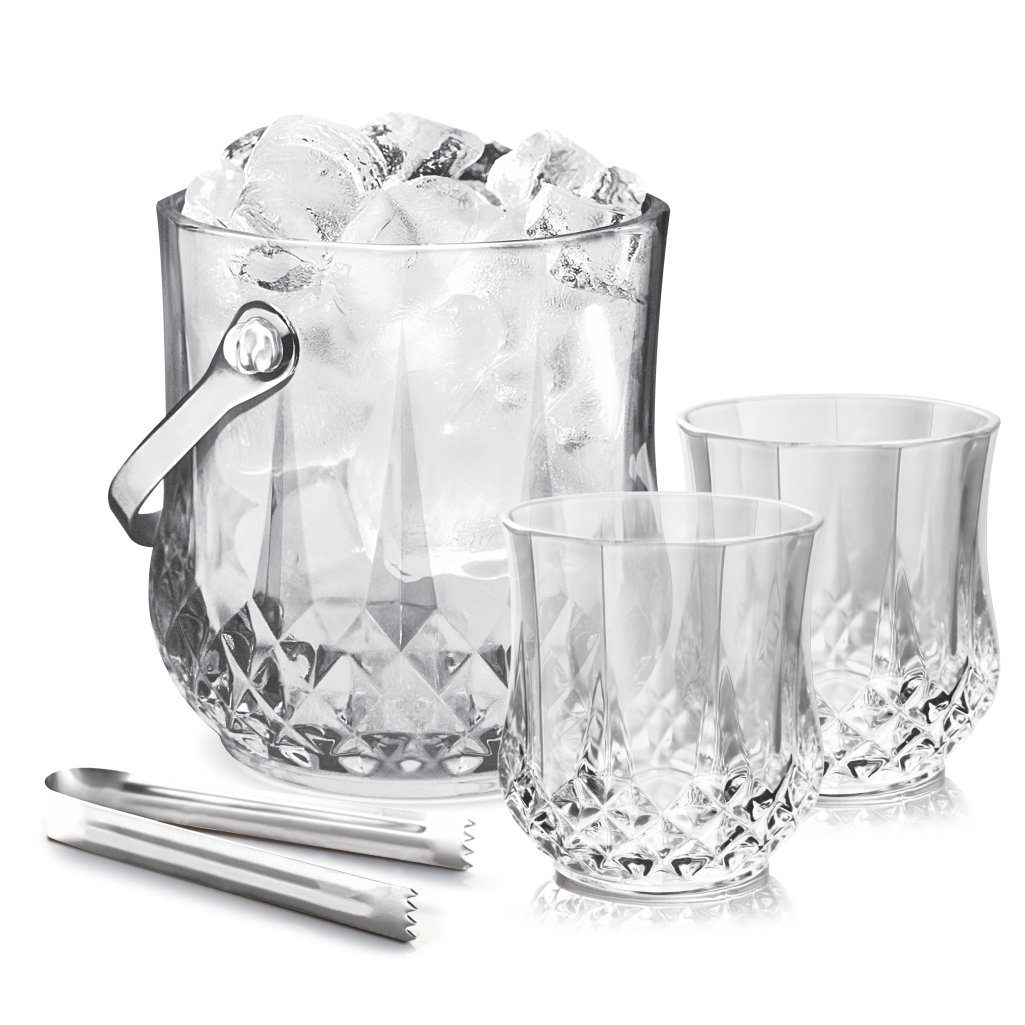 Treo By Milton Vitro On the Rockz Beer Glass Set, 7-Pieces, Transparent