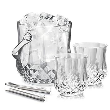 Treo By Milton Vitro On the Rockz Beer Glass Set, 7-Pieces, Transparent Glassware & Drinkware at amazon