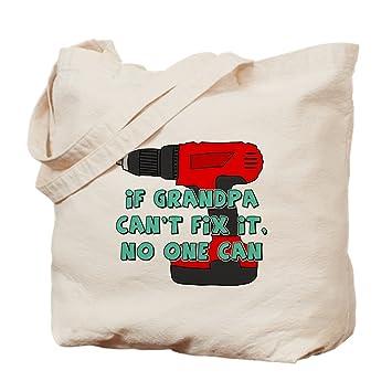 CafePress - Grandpa Cant Fix It - Bolsa de lona natural ...