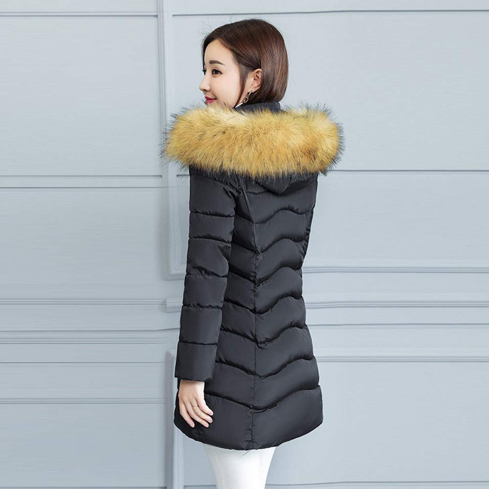 a8084ef6df1 Indeals Women Winter Warm Overcoat Ladies Fashion Faux Fur Hooded Thick  Slim Fit Long Coat: Amazon.in: Clothing & Accessories