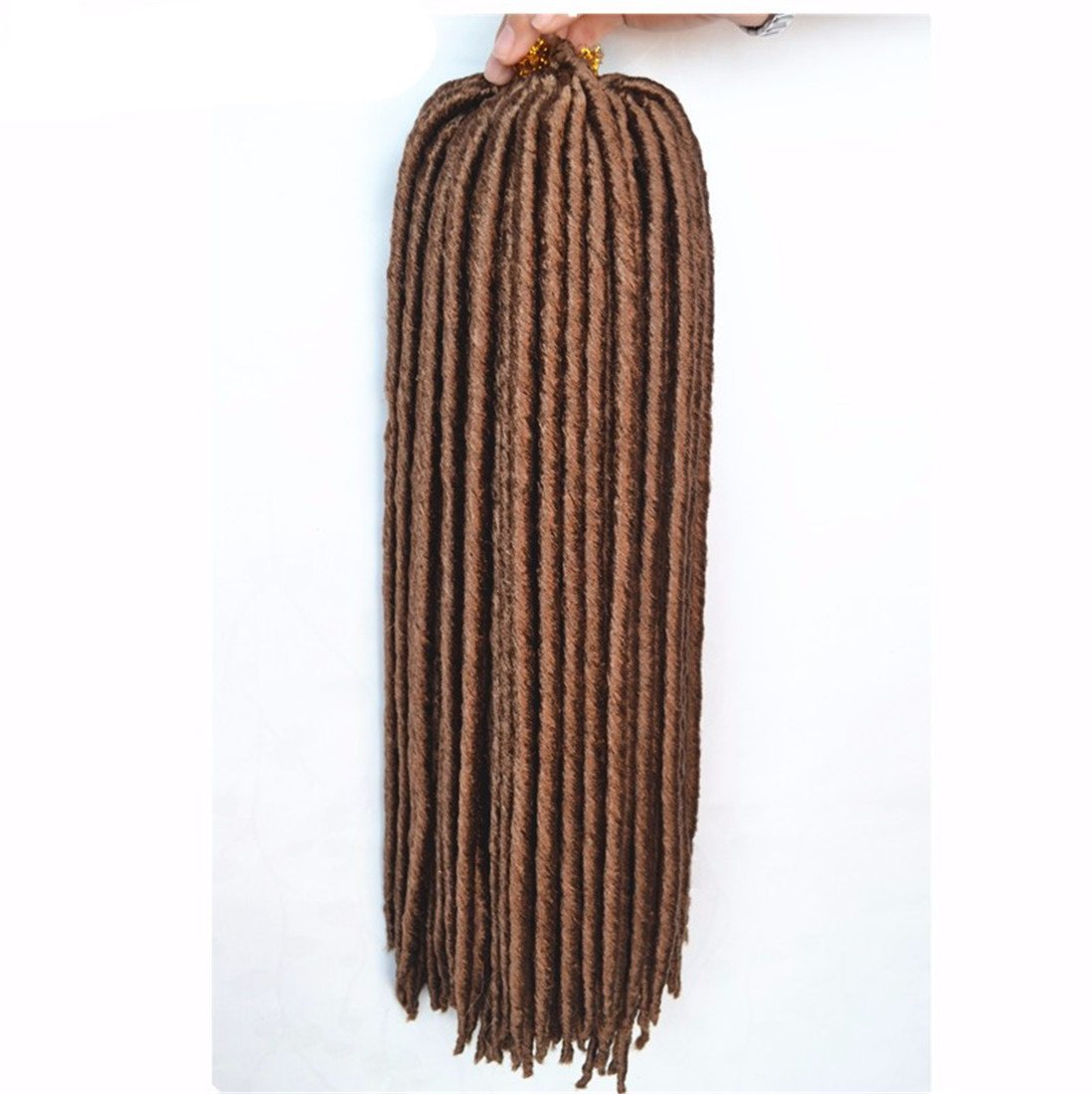 "Synthetic Hair Crochet Braids 2X Havana Mambo Faux Locs 18"" (5 PACK, 27--HONEY BLONDE)"