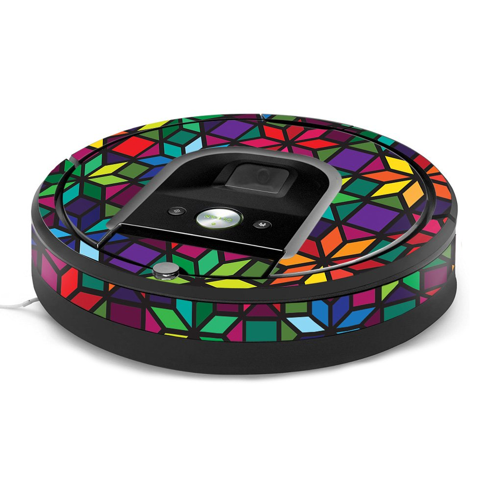 MightySkins Skin for iRobot Roomba 960 Robot Vacuum - Stained Glass Window | Protective, Durable, and Unique Vinyl Decal wrap Cover | Easy to Apply, Remove, and Change Styles | Made in The USA