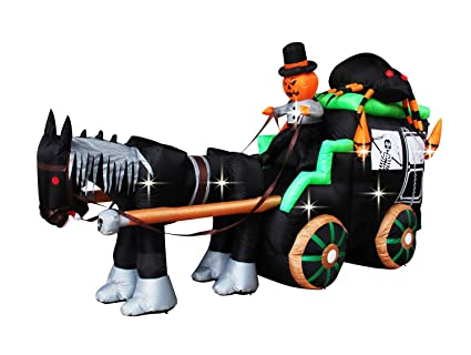 Amazon Com Inslife 11ft Giant Inflatable Halloween Carriage