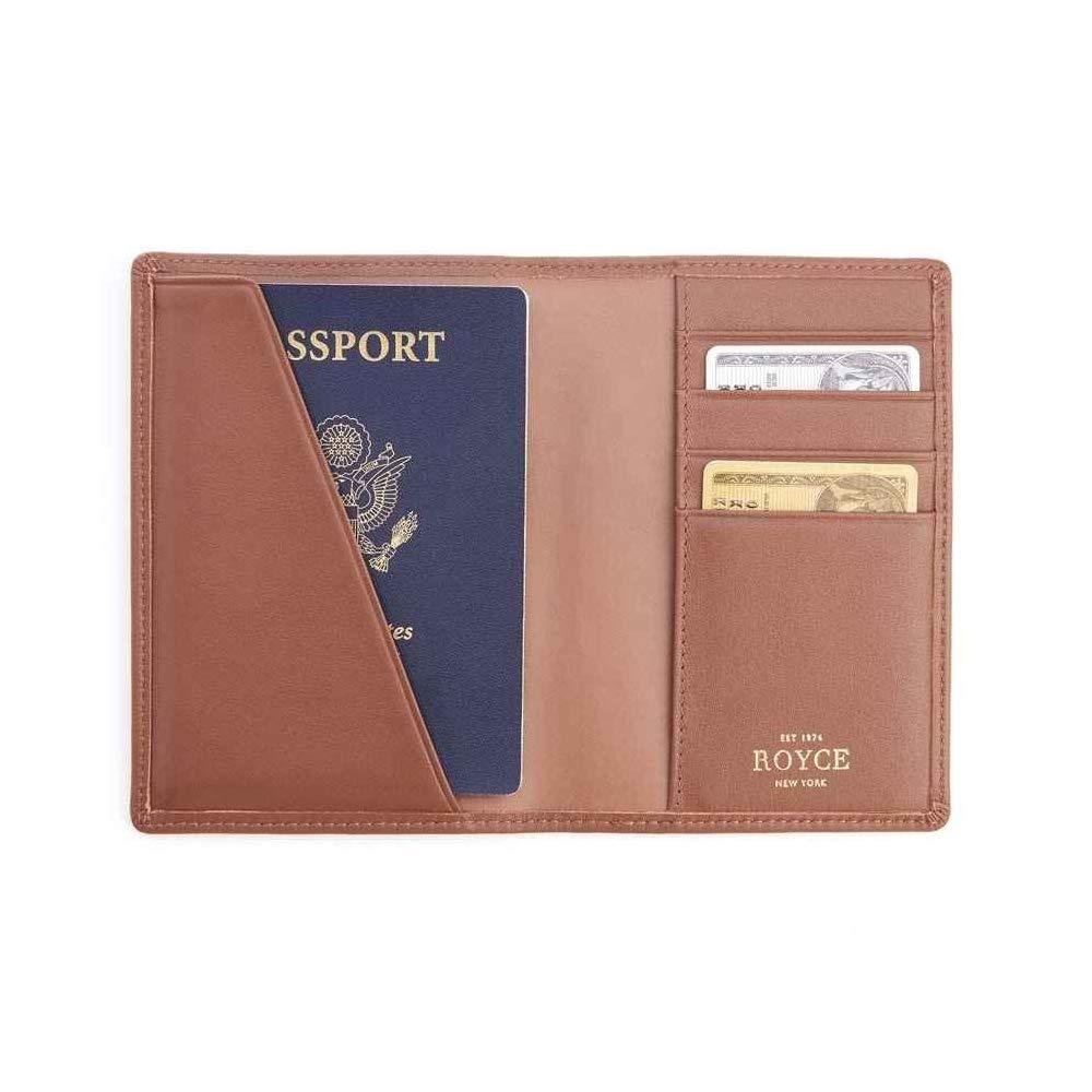 Royce Tan RFID Blocking Leather Passport Wallet RFID-209-TN-5