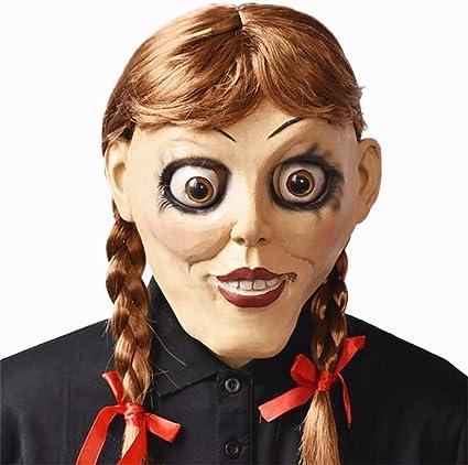 Zounghy Annabelle Disfraz Cosplay Horror Muñeca Máscara para ...